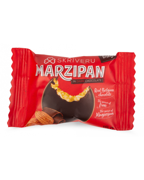 Marcipanai juodajame šokolade SKRIVERU, 150g 2