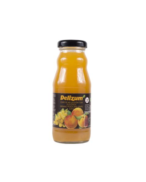 Ekologiškos persikų ir baltųjų vynuogių sultys DELIZUM, 200ml