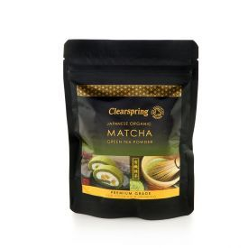 Ekologiški žaliosios arbatos milteliai MATCHA CLEARSPRING, 40g