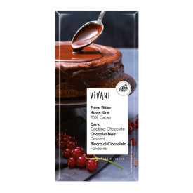 Ekologiškas juodasis šokoladas kepiniams VIVANI, 200 g