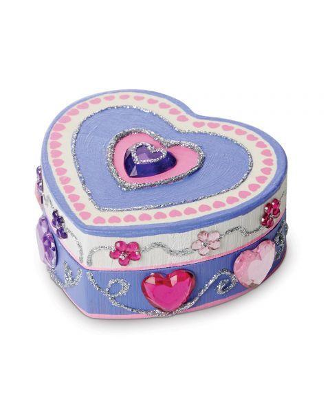 "Dėžutės dekoravimo rinkinys MELISSA & DOUG ""Heart"", 1 vnt. 8"