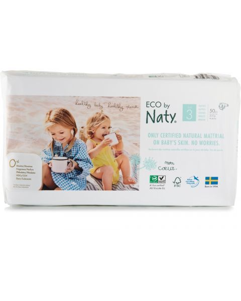 Sauskelnės EKO by NATY 3 Midi 4-9 kg kūdikiams, 50 vnt.