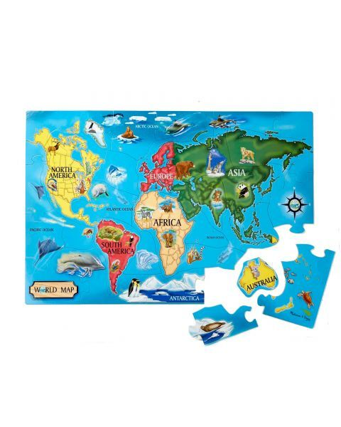 "Dėlionė MELISSA & DOUG "" World Map"", 1 vnt. 2"
