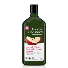 Blizgesio suteikiantis šampūnas AVALON ORGANICS su obuolių sidru, 325 ml
