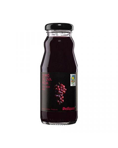 Ekologiškos raudonųjų vynuogių sultys DELIZUM ne iš koncentrato, 200ml