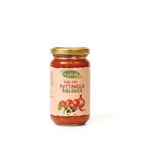 "Ekologiškas pomidorų padažas ""Puttanesca"" LA VITA BIO, 190 g"