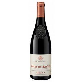 Raudonas sausas vynas DELAS Cotes-du-Rhone Saint-Esprit Rouge AC 14%, 750ml