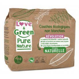 Love&Green sauskelnės, 4 + dydis, 9 - 20 kg, 35 vnt