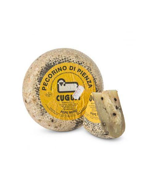 """Avių pieno sūris su pipirais """"DI PIENZA AL PEPE NERO CUGUSI"""", brandinamas 3 mėn, 1kg"""