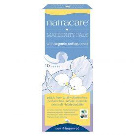 Higieniniai paketai po gimdymo ekologiškos medvilnės paviršiumi NATRACARE, 10 vnt.