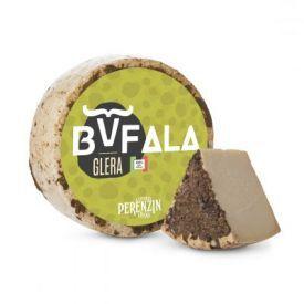 Buivolių pieno sūris PERENZIN pagardintas Glera vynuogių išspaudomis, brandintas vyne ~4 mėn., 1 kg