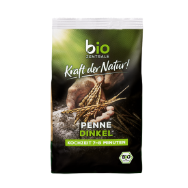 Ekologiški speltų makaronai BIOZENTRALE penne, 250 g