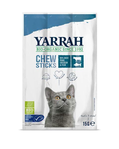 Kačių skanėstas-lazdelės YARRAH su jūržolėmis ir dumbliais, 15 g