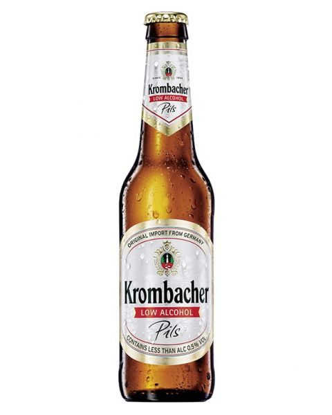 "Nealkoholinis alus ""Krombacher Pils Non-Alcoholic"" 0,5% butelis 0,33L"