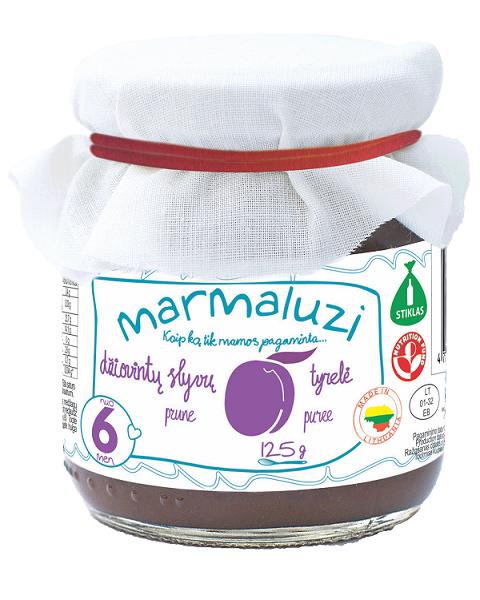 Džiovintų slyvų tyrelė MARMALUZI vaikams nuo 6 mėn., 125 g