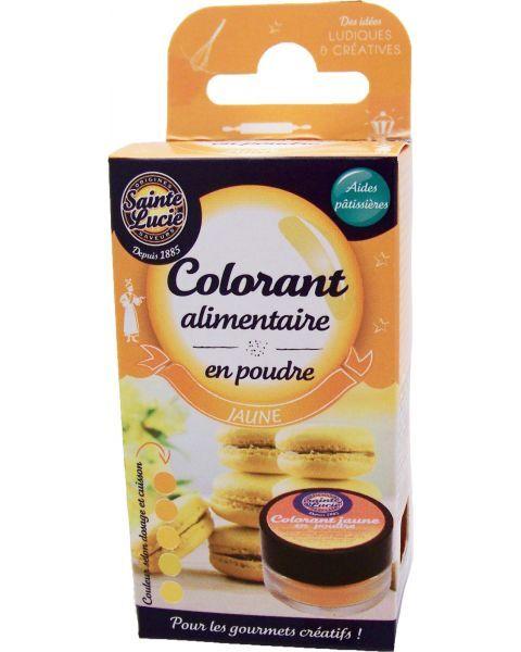 Maistinių dažų milteliai SAINTE LUCIE, geltonos spalvos, 2 g