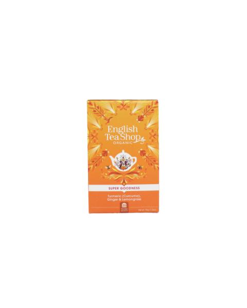 Ekologiška arbata ENGLISH TEA SHOP  Turmeric (Curcuma),  Ginger & Lemongrass , 20 maišelių