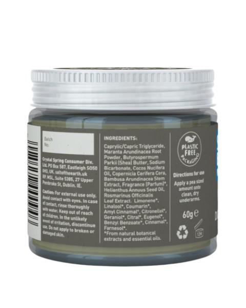 Natūralus tepamas dezodorantas SALT OF THE EARTH su vetiverijomis ir citrinomis, 60 g 2