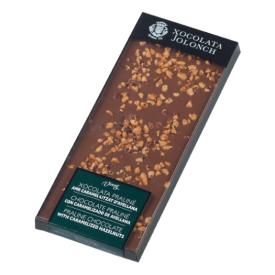 Pieninis šokoladas su karamelizuotais lazdyno riešutais JOLONCH, 100g