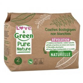 Ekologiškos Love&Green sauskelnės, 2 dydis, 3 - 6 kg, 35 vnt
