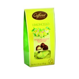 """Tamsaus šokolado saldainių rinkinys CAFFAREL """"Limoncello"""" su citrinų likerio įdaru, 120 g"""
