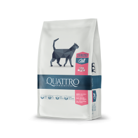 Sausas sterilizuotų kačių pašaras QUATTRO Extra poultry, 400g