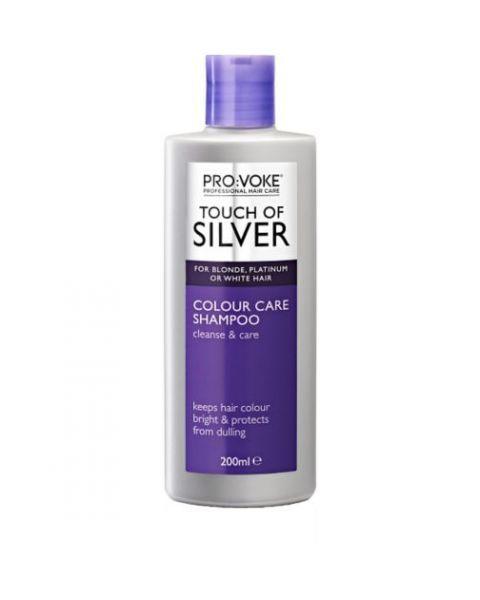 Gelsvus atspalvius naikinantis šampūnas PROVOKE Touch of Silver kasdieniam naudojimui, 200ml