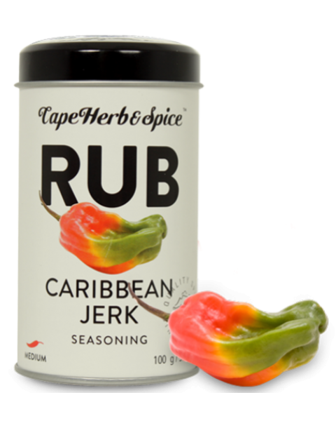 Prieskonių mišinys CAPE HERB & SPICE RUB Caribbean Jerk, 100g
