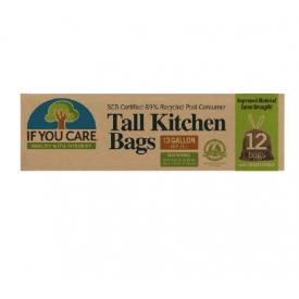 IF YOU CARE šiukšlių maišai, 12 vnt, 49,2 L