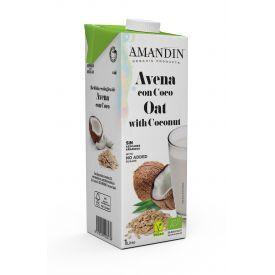 Ekologiškas avižų ir kokosų gėrimas AMANDIN, 1L