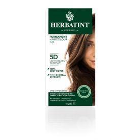 Plaukų dažai be amoniako HERBATINT su ekologiškais ekstraktais, 5D šviesus aukso kaštonas, 150 ml