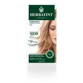 Plaukų dažai be amoniako HERBATINT su ekologiškais ekstraktais, 10DR šviesaus aukso su vario atspalviu, 150 ml
