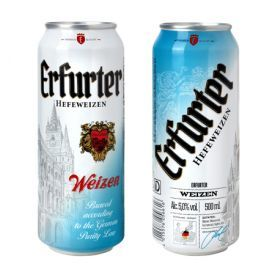 "Kvietinis alus ""ERFURTER HefeWeizen"" 5%, 500 ml skardinė"