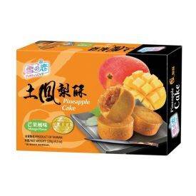 Ananasiniai pyragėliai su mangų skonio įdaru YUKI&LOVE, 120 g