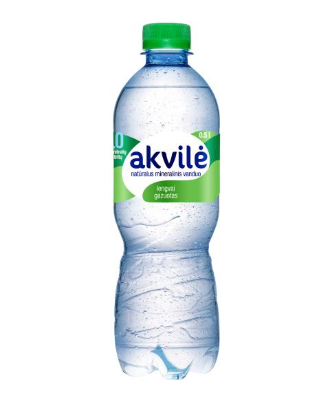 Lengvai gazuotas natūralus mineralinis vanduo AKVILĖ, 500 ml