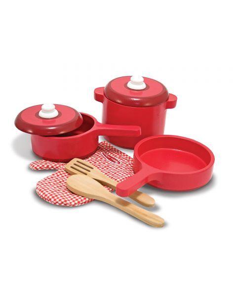 Medinis virtuvės įrankių ir puodų rinkinys MELISSA & DOUG, 1 vnt. 3