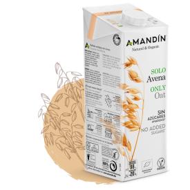 Ekologiškas natūralus avižų gėrimas AMANDIN be aliejaus, 1 l