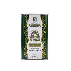 """Itališkas, ypač tyras alyvuogių aliejus RAINERI, pagamintas iš """"Taggiasca"""" alyvuogių, Imperijos provincijoje, skardoje 500 ml"""