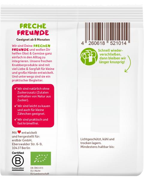 Ekologiški sausainiai FRECHE FREUNDE su spelta ir braškėmis, nuo 8 mėn., 100 g 2