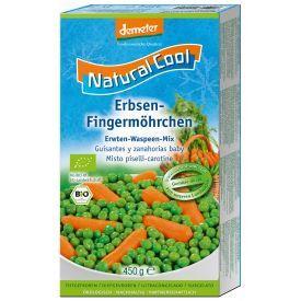 Šaldytas morkų ir žirnelių mišinys NATURAL COOL, biodinaminis, 450g