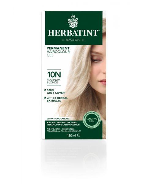 Plaukų dažai SU EKOLOGIŠKAIS EKSTRAKTAIS be amoniako Herbatint 10N platinos blondinė, 150 ml