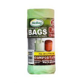 Kompostuojami šiukšlių maišai BIOBAG 20 l, 20 vnt.