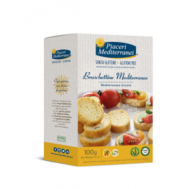 Duonelės Bruschetta PIACERI MEDITERRANEI, be gliuteno, 100 g