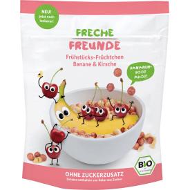 Ekologiški sausi pusryčiai su bananais ir vyšniomis vaikams FRECHE FREUNDE, 125 g
