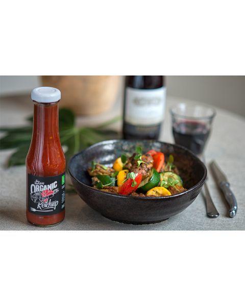 Pomidorų ir čili pipirų kečupas BIO BANDITS, 325ml 2