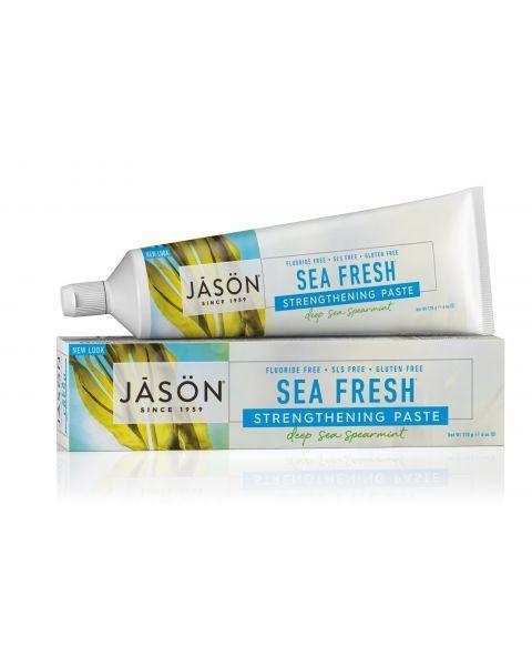 Natūrali dantis ir dantenas stiprinanti dantų pasta JASON SeaFresh su jūros dumbliais, 170 g