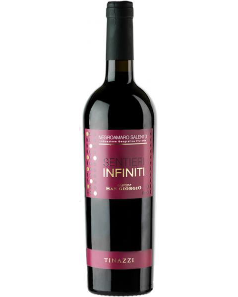Raudonas sausas vynas Sentieri Infiniti Negroamaro IGP 14%, 750ml