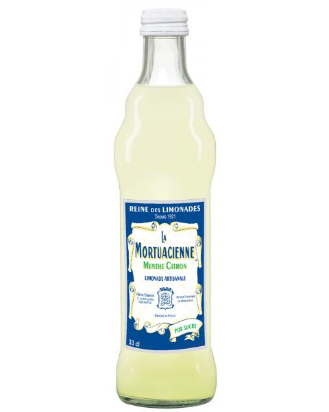 Gazuotas gaivusis gėrimas LA MORTUACIENNE, mėtų ir citrinų skonio, 330 ml