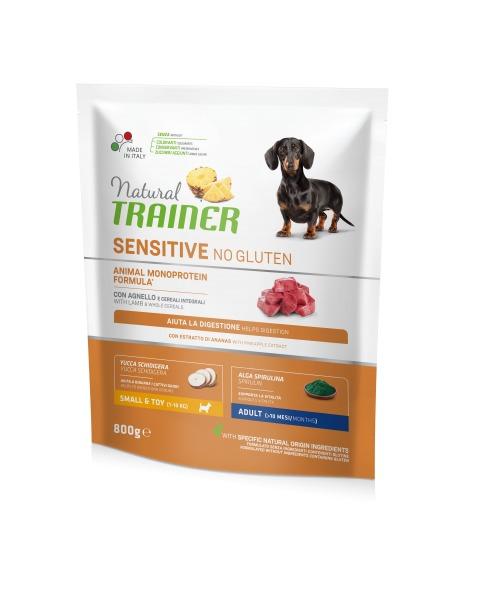 Sausas maistas mažų veislių šunims NATURAL TRAINER Sensitive su ėriena, be gliuteno, 800 g