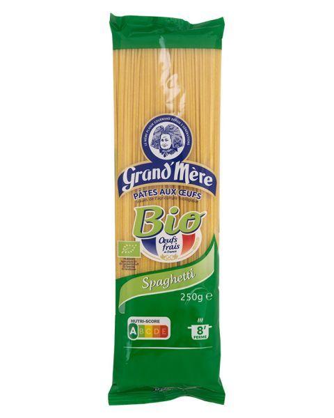Ekologiški makaronai su kiaušiniais GRAND'MERE BIO spagečiai, 250 g.